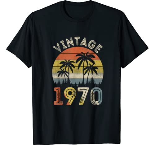Vintage 1970 Shirt 50 Years Old 50th Birthday Gifts T Shirt