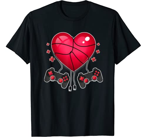 Gaming Controllers Heart Video Gamers Valentines Tshirt T Shirt