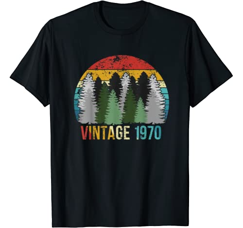 Vintage 1970 50 Years Old 50th Birthday Party Gift T Shirt