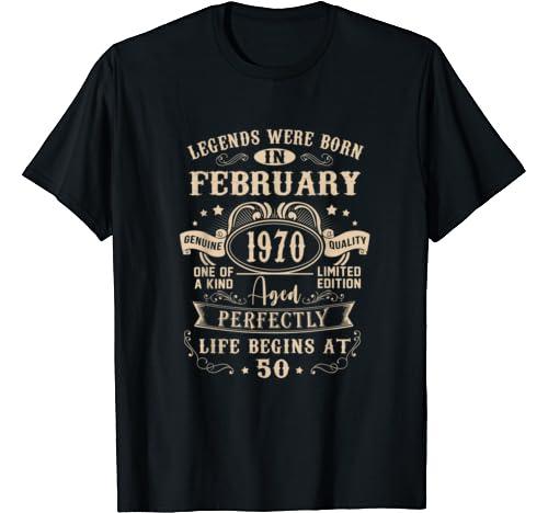 February 1970 50th Birthday Gift 50 Year Old For Men Women T Shirt