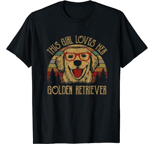 This Girl Loves Her Golden Retriever Gifts For Teen Girls T Shirt