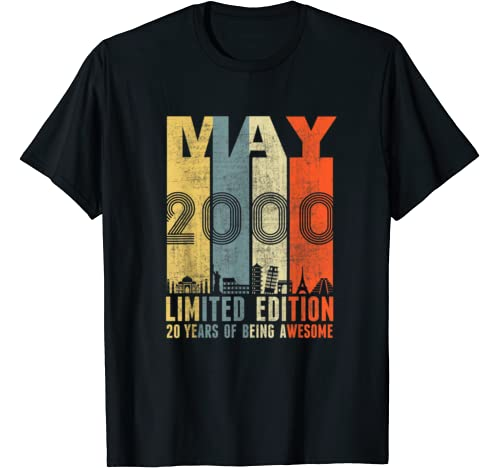May 2000 Vintage Funny 20th Birthday Gift T Shirt