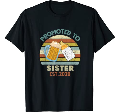 Vintage Promoted To Sister Est 2020 T Shirt T Shirt