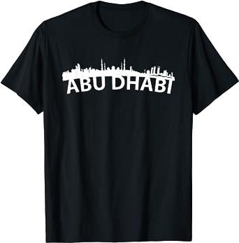 Curved Skyline Of Abu Dhabi United Arab Emirates T-Shirt