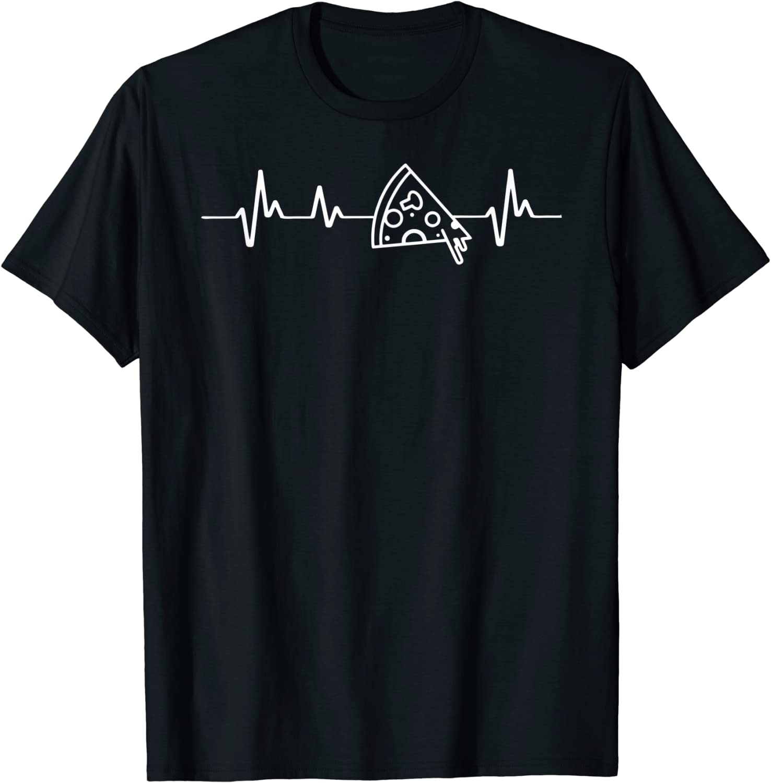 Pizza heartbeat I love pizza food lover for women men kids T-Shirt