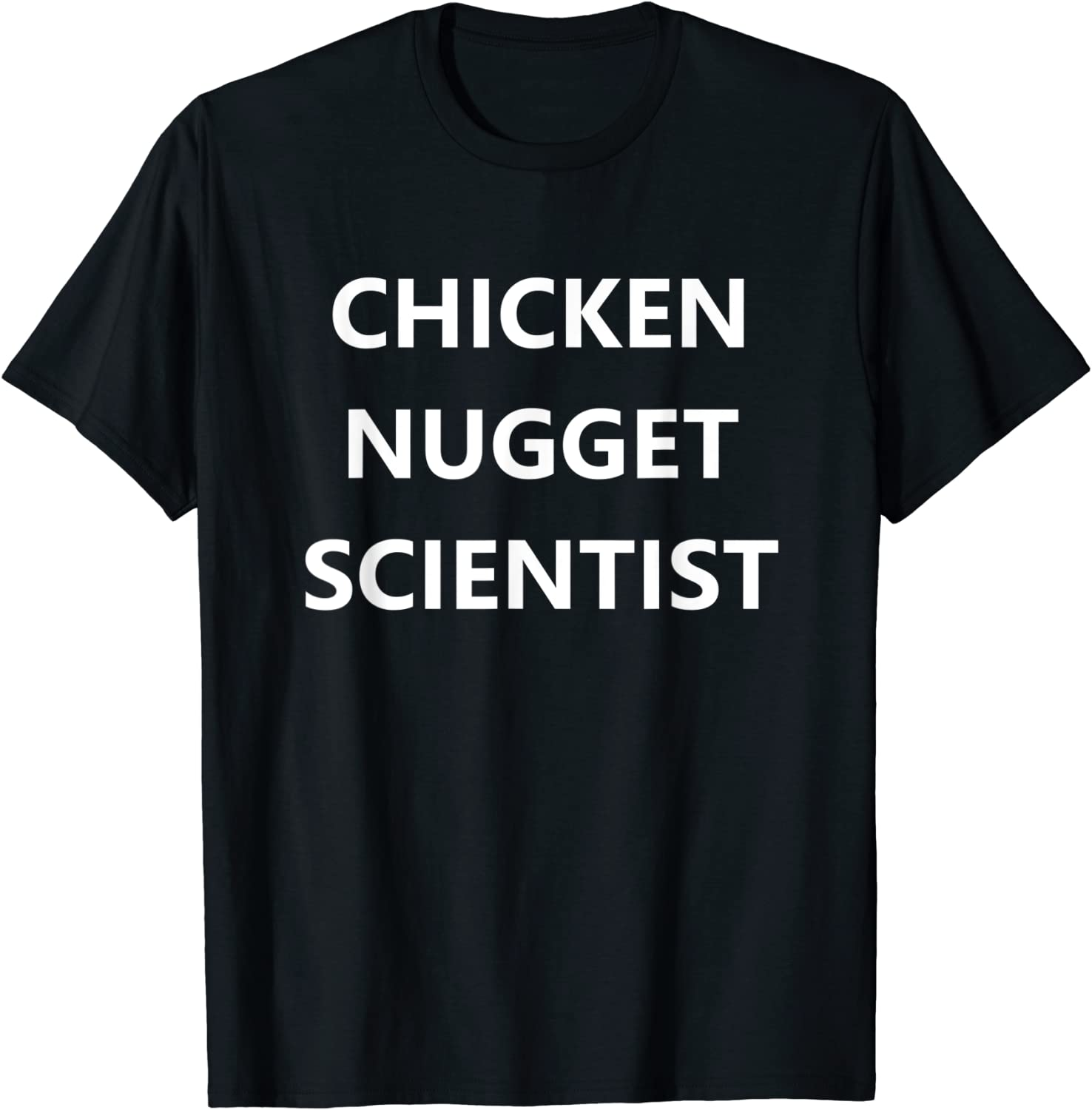 Chicken Nugget Scientist Shirt Funny Gag Gift Junk Food Tee