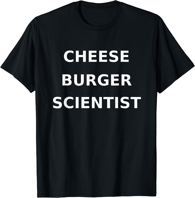Cheeseburger Scientist Funny Burger Gag Gift Junk Food T-Shirt