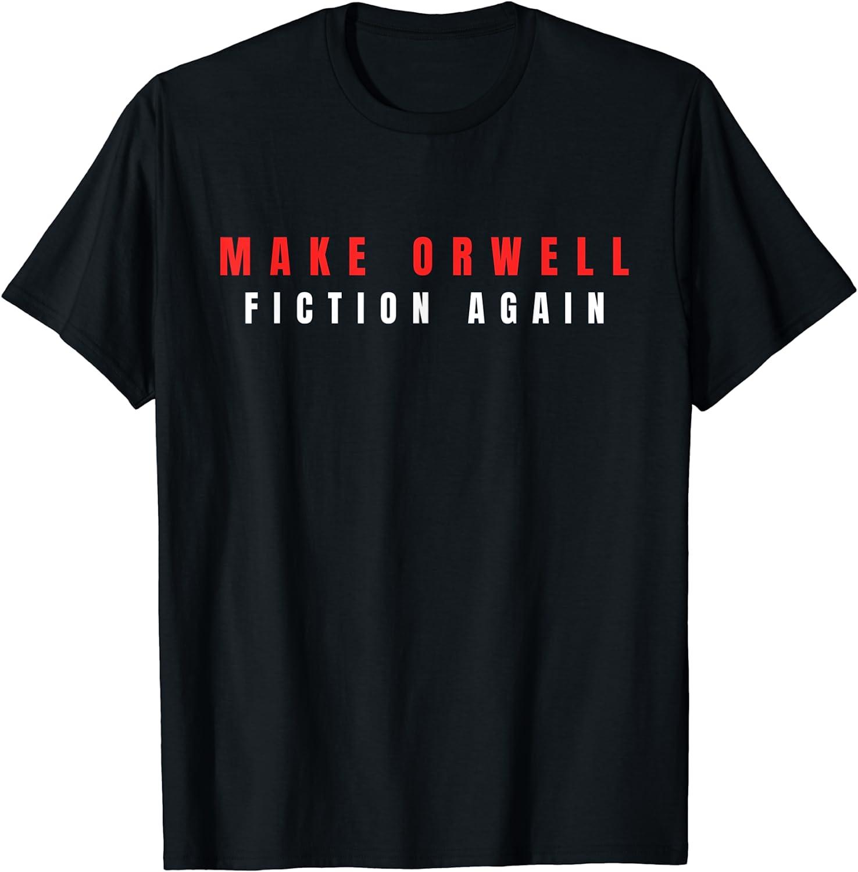 Make Orwell Fiction [Alternative dealer] Challenge the lowest price of Japan ☆ Again Tshirt Trump