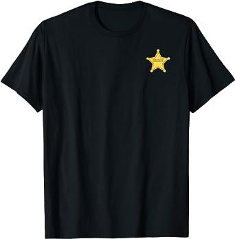 Disney Pixar Toy Story Woody Gold Sheriff Badge T-Shirt