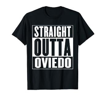Amazon.com: Straight Outta Oviedo camisa, Rojo: Clothing