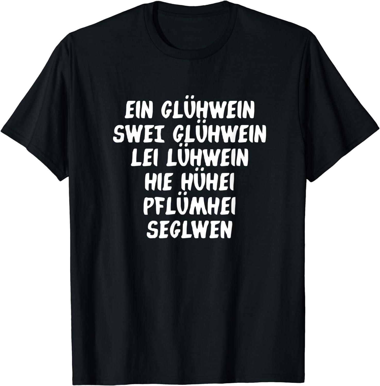 Ein Glühwein Swei Lallen Betrunken Lustig T-Shirt: Amazon
