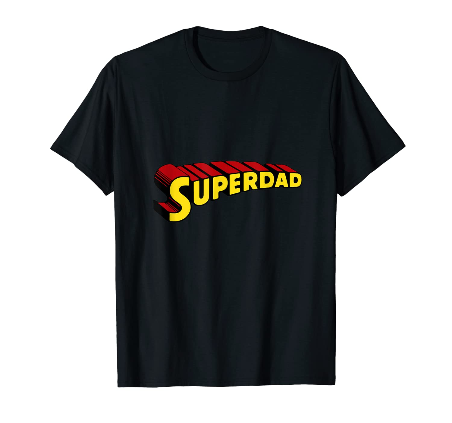 Mens Superdad Father's Day Tshirt-Yolotee
