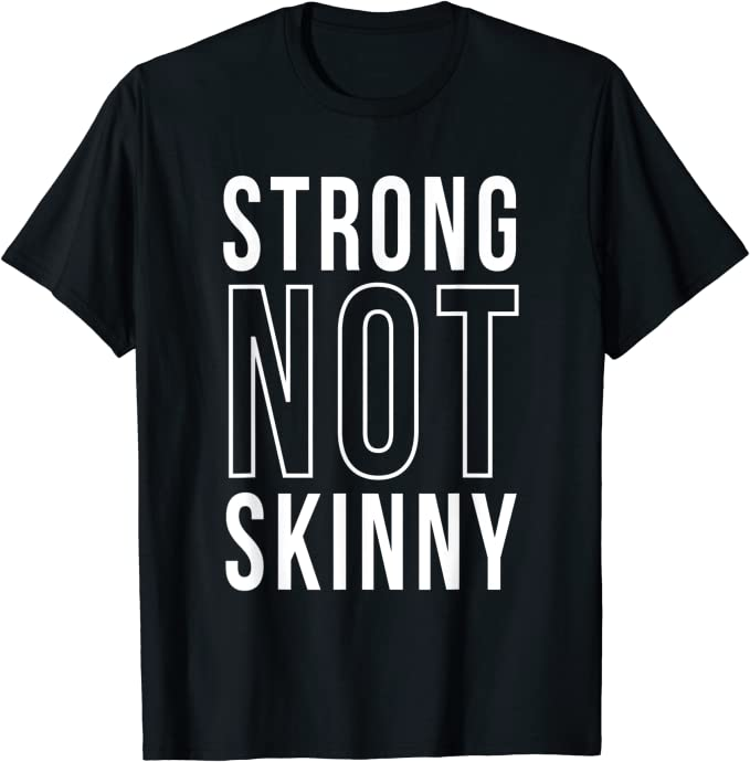 Strong Is The New Skinny Workout WOD Fitness Exercise Juniors V-neck T-shirt