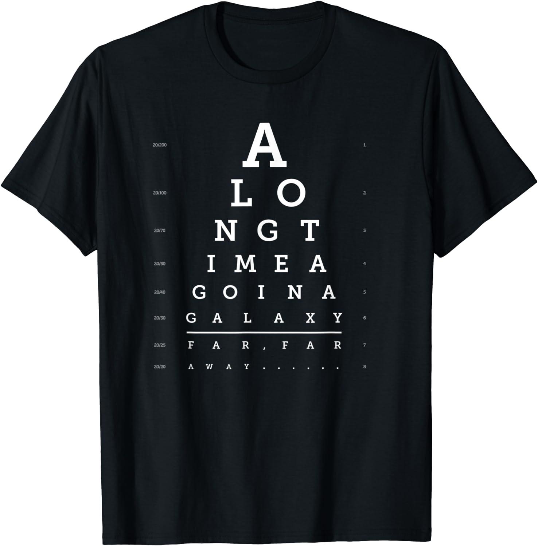 Star Wars Opening Crawl Eye Chart T-Shirt