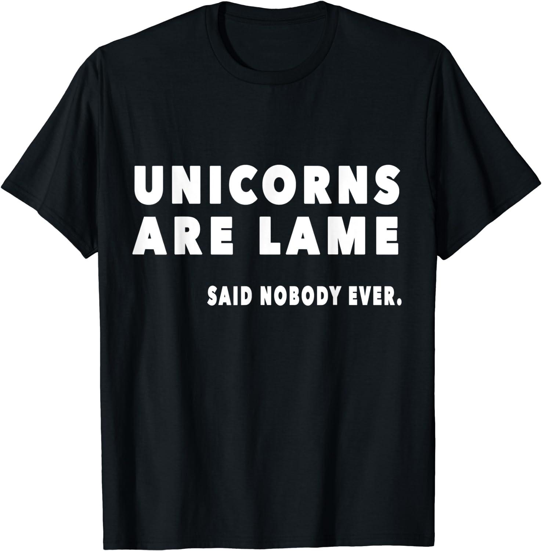 Funny Novelty T-Shirt Mens tee TShirt Unicorns Are Lame Snoe