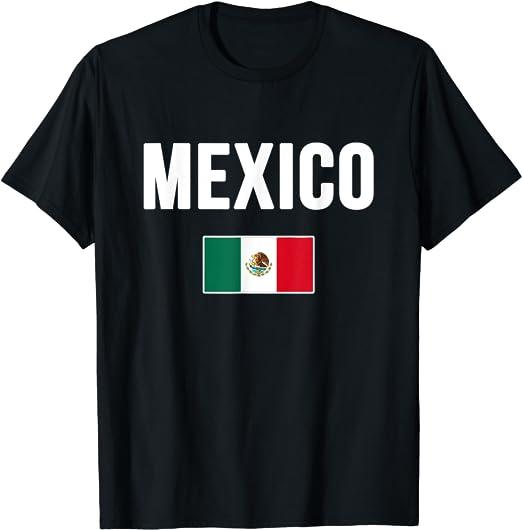 Mexican Crest Pride Flag Mexico T-SHIRT M-3XL Numero Uno Hispanic Viva La Mexico