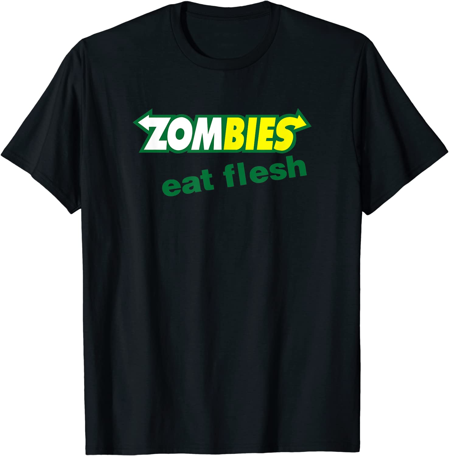 Funny Zombies Eat Flesh Scary Food Halloween Costume T Shirt