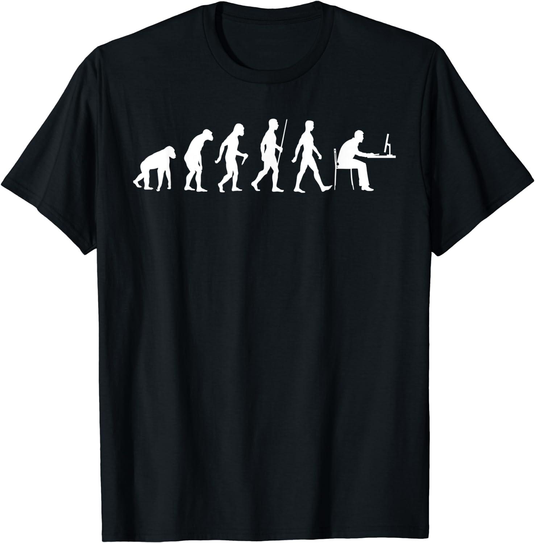 Evolution of Man Computer Programmer Funny Geek Lover IT T-Shirt