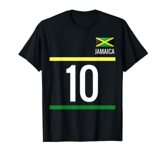 buy popular ff278 34824 Amazon.com: Jamaica Soccer T-Shirt - Jamaican Football 10 ...