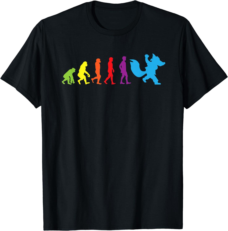 Furry New product type shirt Human Be super welcome Evolution Fursona T-Shir Shirts Women Men Kids