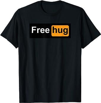 Homme Drôle T-shirt FREE HUGS Regular Fit 100/% COTON TEE