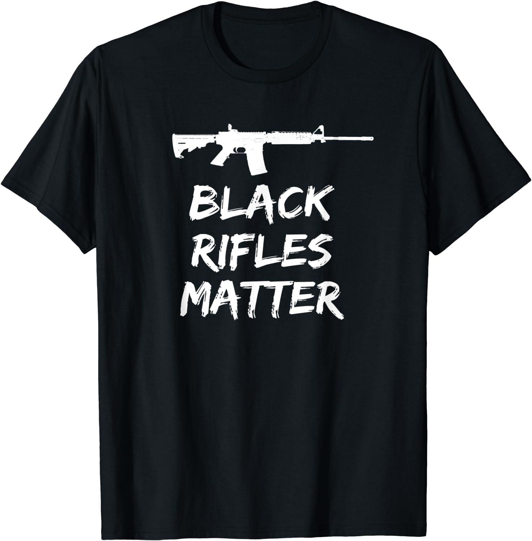 Men/'s Tank Top Black Rifles Matter T-Shirt Guns AR-15 AK47 Gun 2nd Amendment Tee