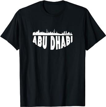 Cityscape Skyline Of Abu Dhabi United Arab Emirates T-Shirt