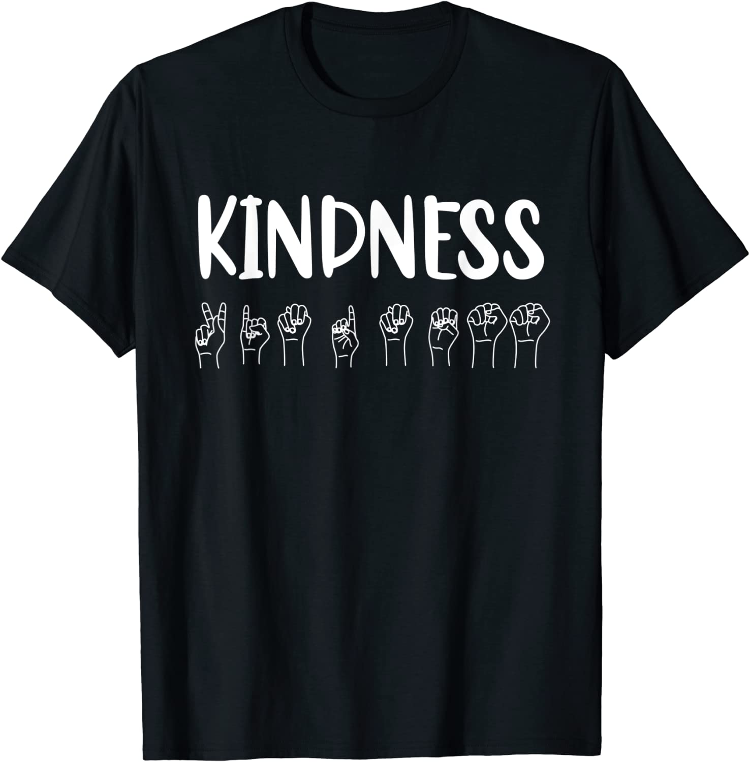 Stop Bullying Kindness Matters Sign Language T-Shirt