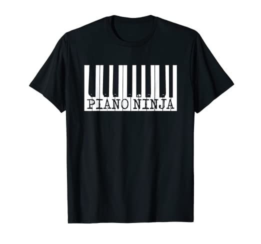 Piano Ninja Piano Keys Band Musician Player Gift T-Shirt
