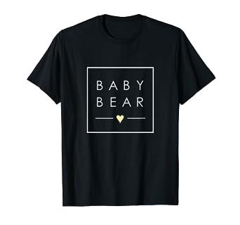 Amazon.com: Bebé Oso TSHIRT Cute minimalista Plaza con amor ...