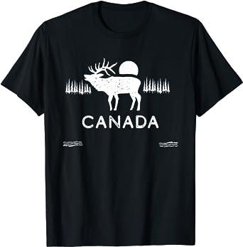 Canada Shirt for Men Women   Canadian Elk Canada Gift Camiseta