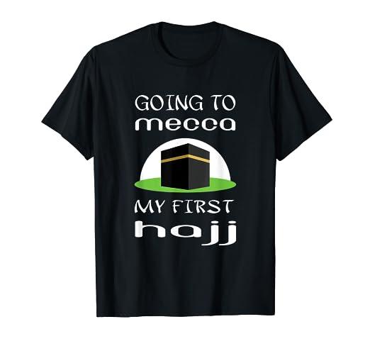 Amazon com: My first hajj to Mecca tshirt gift-Mecca Kaaba shirt