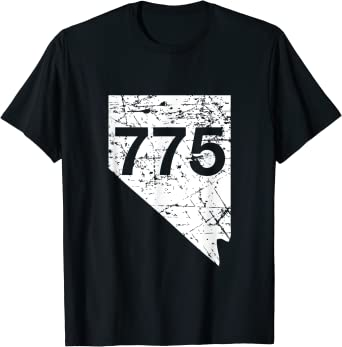 Carson City Reno Sparks Area Code 775 Shirt, Nevada Gift