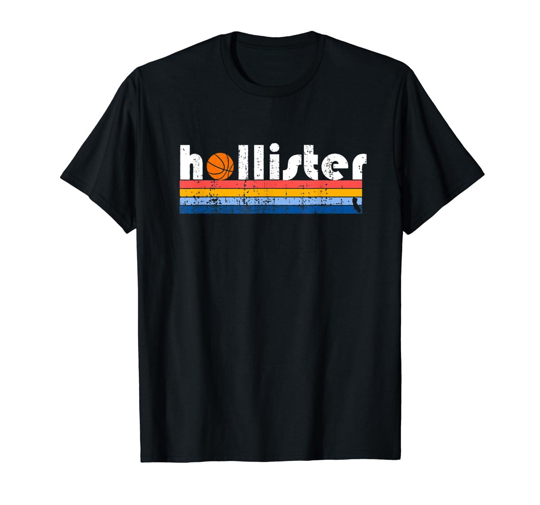Hollister Basketball California 1980s Retro Vintage T Shirt