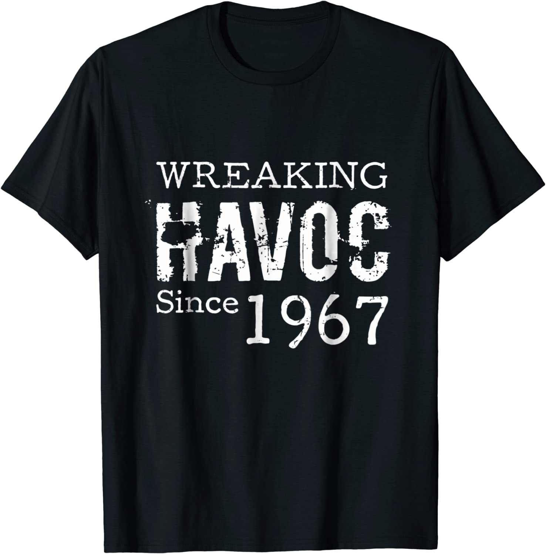 67th Birthday Gifts Presents Year 1953 Unisex Ringer T-Shirt Wreaking Havoc