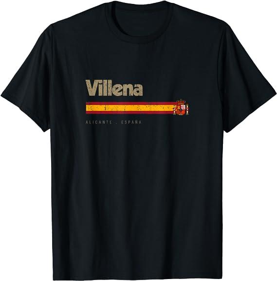 Villena Ciudad Española Vintage Bandera España Camiseta ...