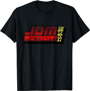 Retro 80s Style JDM Tshirt Car Drifting Racing for men