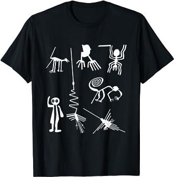 Nazca Lines Short-Sleeve Black Unisex T-Shirt