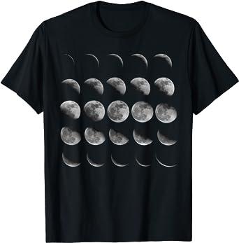 Moon Phases Shirt Moon Shirt Unisex V-Neck Moon Phases Moon Phases TShirt Long Sleeve Shirts