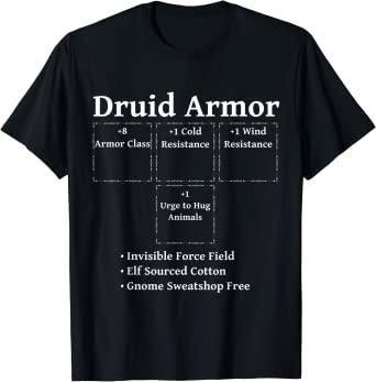 Druid Armor: Role Playing RPG Class Dice Tabletop RNG Game