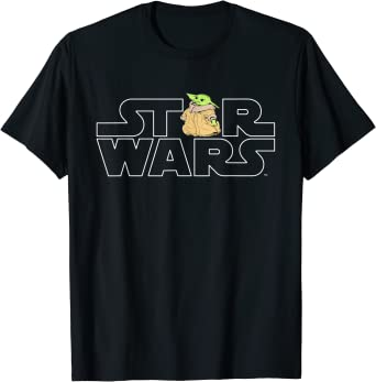 Star Wars Logo and The Child from The Mandalorian T-Shirt