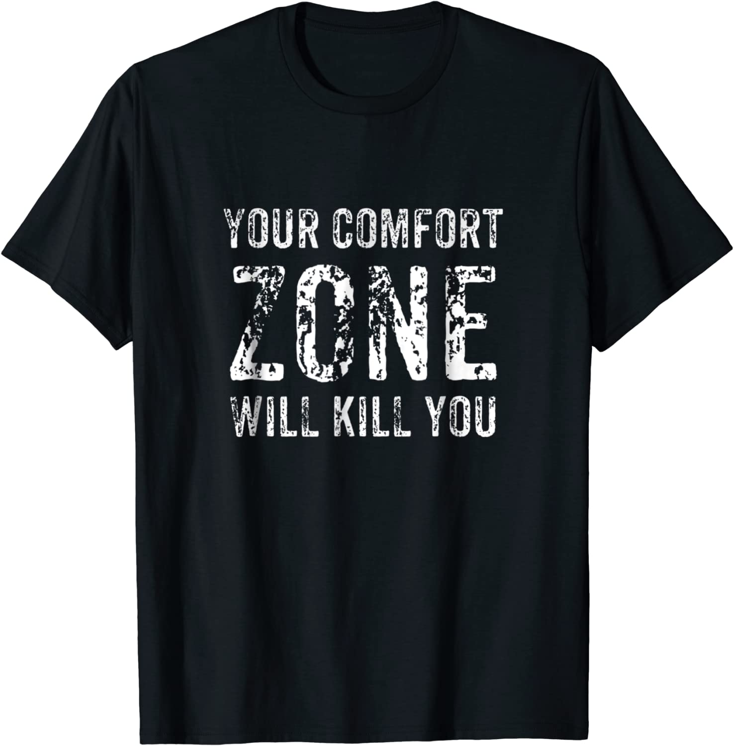 Men/'s Your Comfort Zone Will Kill You Black Tank Top Fitness Gym Workout WT V410