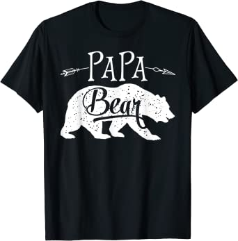 Mens Papa Bear Funny Shirts for Dads Gift Idea Humor Novelty Tees Family T Shirt