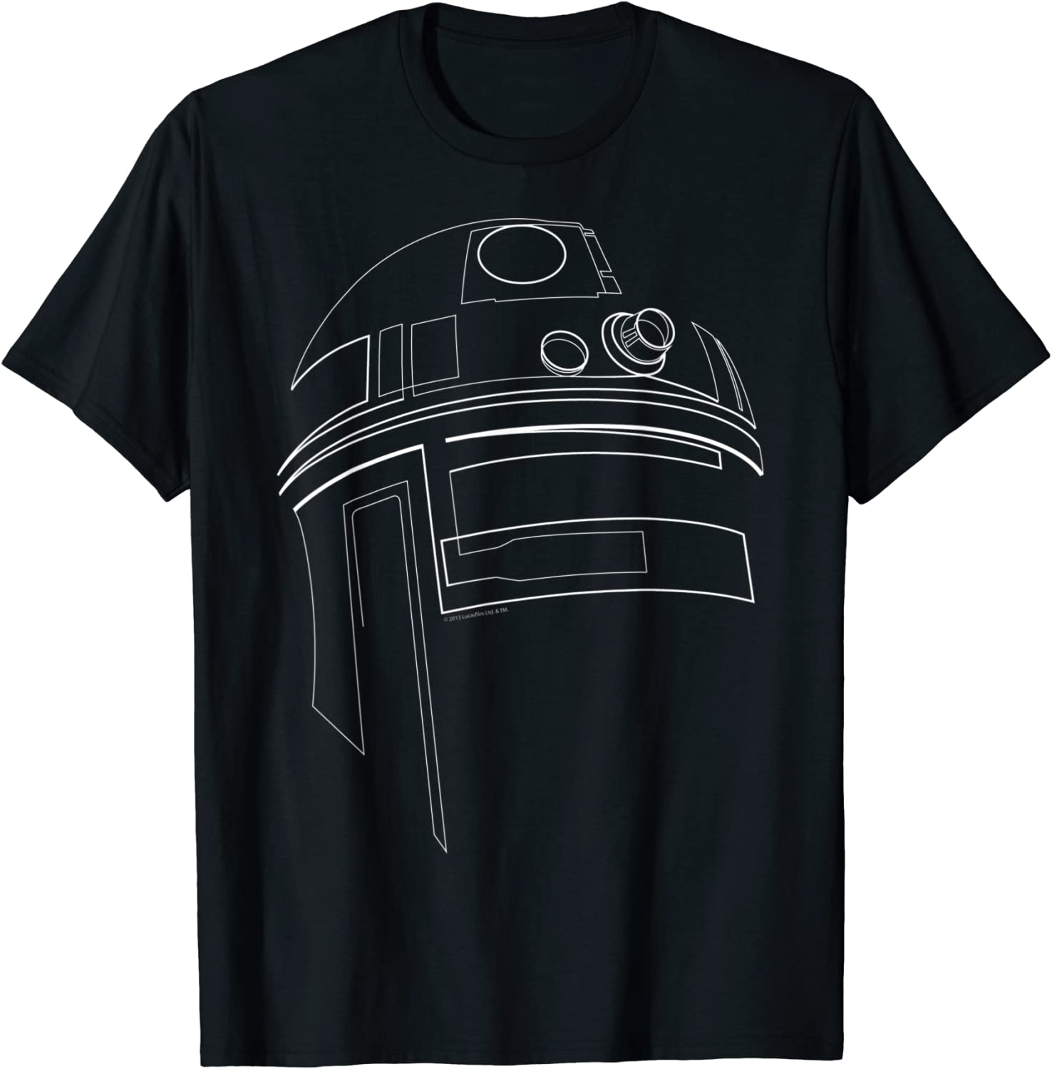 Star Wars R2-D2 Outline Graphic T-Shirt