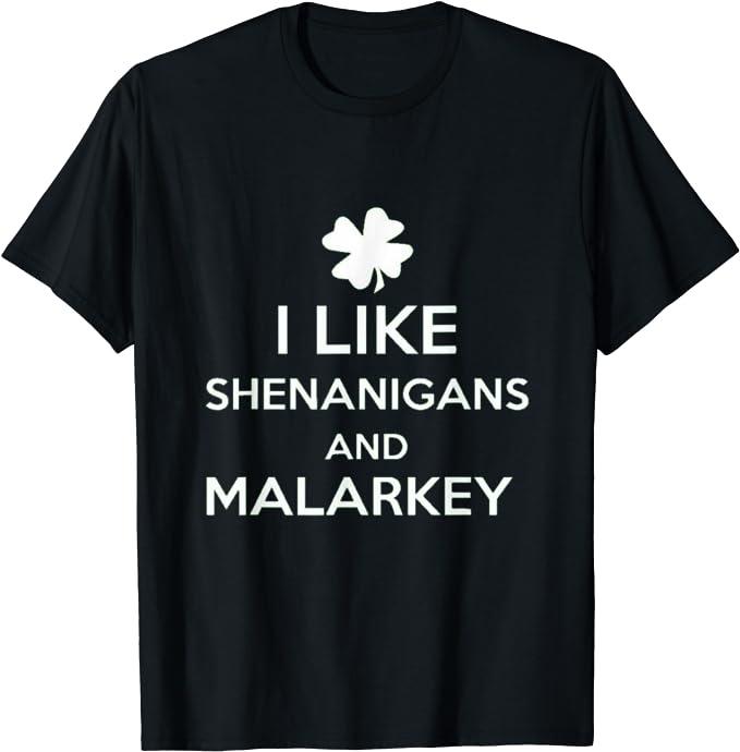 Shenanigans and Malarkey GLITTER green Shirt St Patricks Day Tops Shirts Matching Group Drinking St Pattys Day Shirts