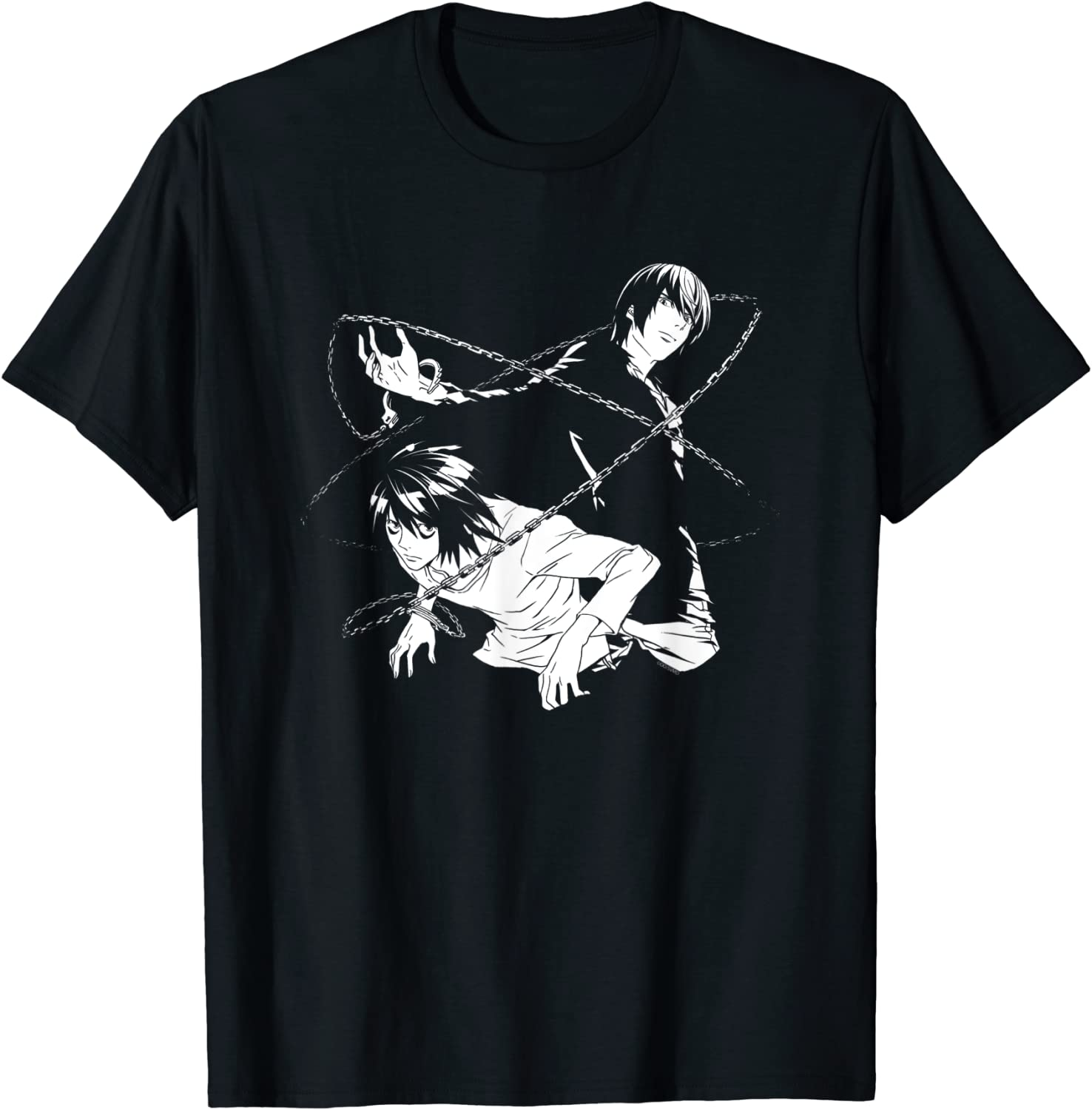 Death Note Light and L Chains T-Shirt