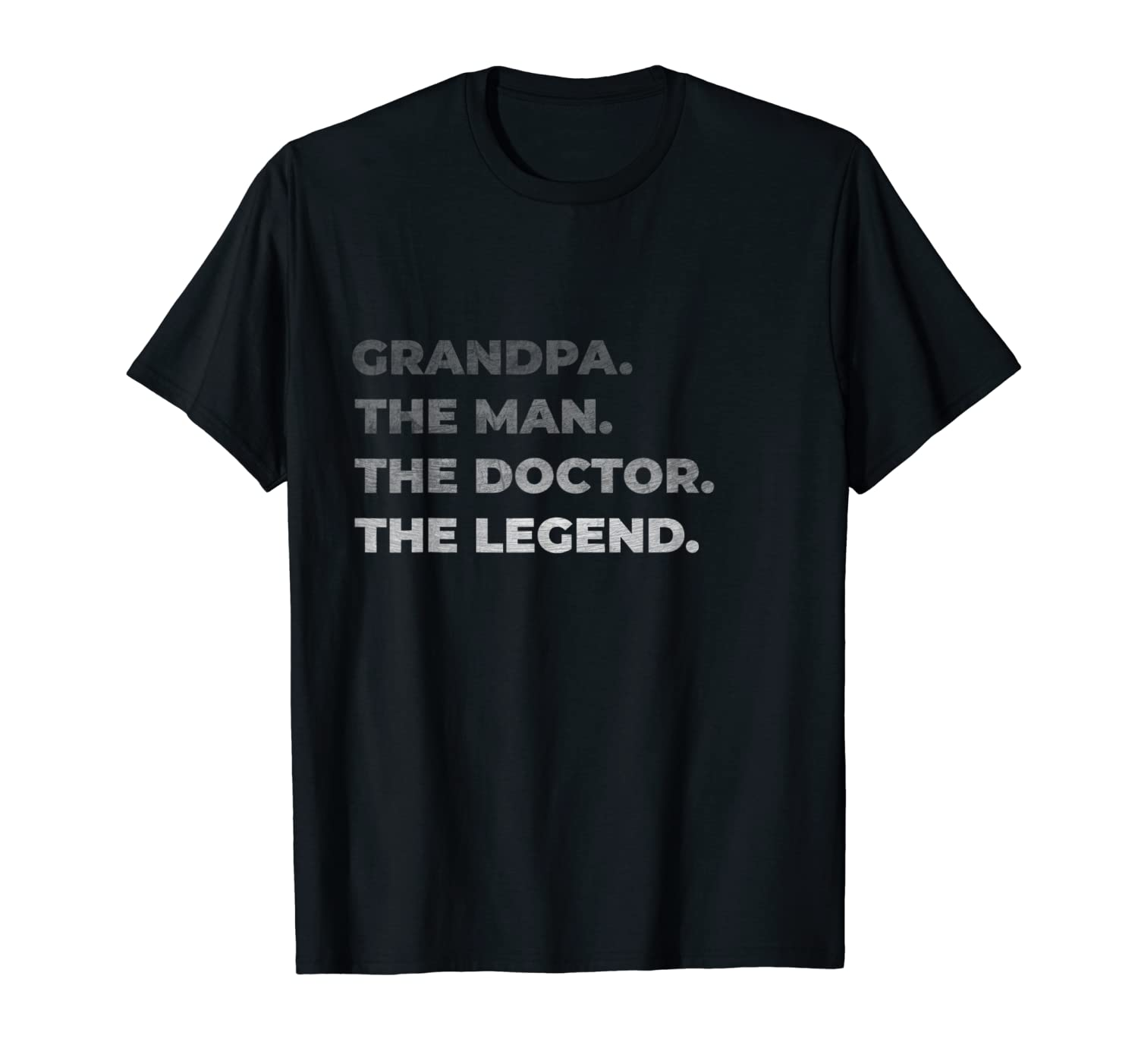 Mens Physician Grandpa The Man Doctor Legend Distressed Gift T-Shirt