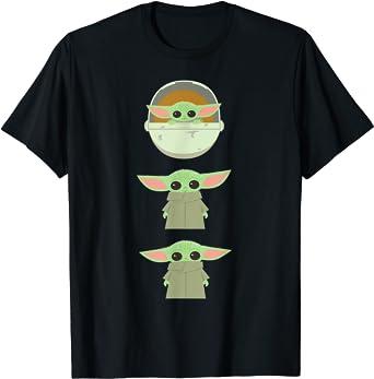 Star Wars The Mandalorian The Child Cartoon Poses Camiseta