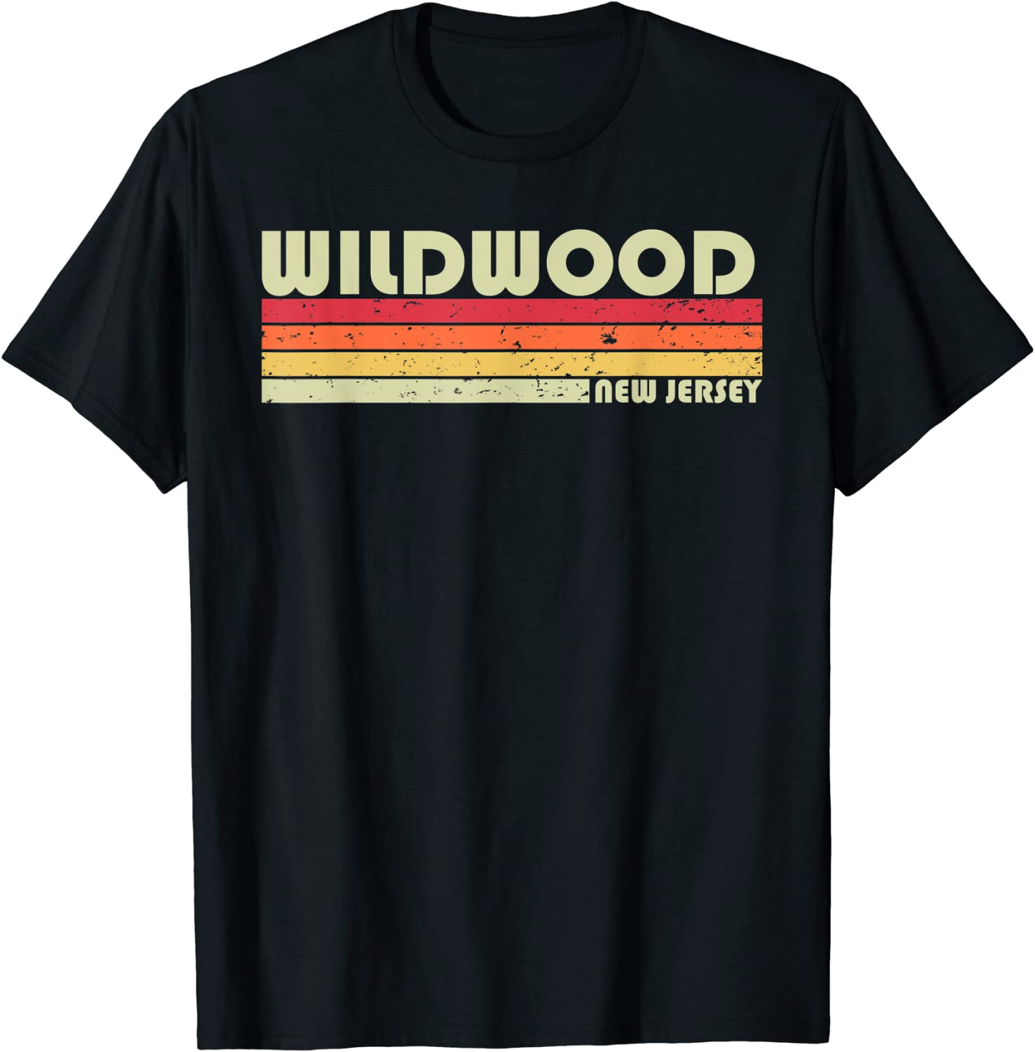 WILDWOOD NJ NEW JERSEY Funny City Home Roots Gift Retro 80s T-Shirt