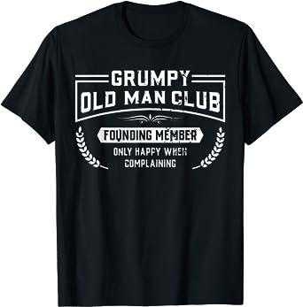 Amazon Com Grumpy Old Man Club Founding Member Golf Grandpa Funny Gift T Shirt Clothing